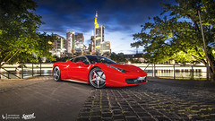 458 Shoot (Lennard Laar) Tags: ferrari 458 italia shoot photoshoot lightpainting italian car sport sportscar super supercar cars carspotting carsighting germany frankfurt am main ecc rent eccrent nikon d5100 tokina 1116mm lennard laar lennardlaar photography night nightphoto summer 2016