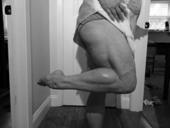 20141212_144459bw (ARDENT PHOTOGRAPHER) Tags: muscular calves woman female flexing