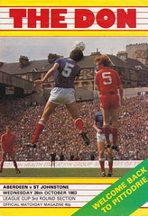 Aberdeen vs St Johnstone - 1983 - Cover Page (The Sky Strikers) Tags: road cup st magazine official scottish aberdeen don to hampden league johnstone the matchday pittodrie 40p