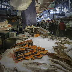 A Fish Market in Barcelona (Greatest Paka Photography) Tags: laboqueria fish food market lasramblas barcelona spain fishmarket fishmonger masvila europe seafood travel shopping vendor trader gastronomic stall palmirainous