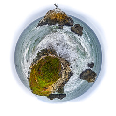 save this planet (pbo31) Tags: california nikon d810 color july 2016 summer boury pbo31 northerncalifornia bayarea sanmateocounty pacifica shore beach westcoast ocean pacific water brown planet polar circle islands tide wave coastal