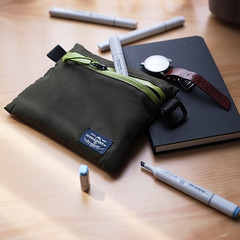 Flat Pouch Green 05 (Imagery Bags) Tags: zipper ykk waterresistant flatpouch drypouch
