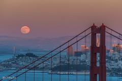 Rising full moon at sunset (Buck moon) - Golden Gate Bridge, San Francisco (FollowingNature) Tags: followingnature fullmoon needle frame transamericabuilding goldengatebridge ggb moonrise