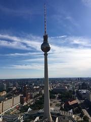 Berlin Alexanderplatz (sabine.dahlke) Tags: marienkirche kirche germany deutschland skyline architektur rathaus rotesrathaus fernsehturm alexanderplatz alex mitte berlinmitte berlin