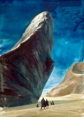 Dune paperback cover by John Schoenherr, 1965 (Tom Simpson) Tags: johnschoenherr illustration scifi sciencefiction art vintage painting dune paperback cover 1965 1960s frankherbert desert