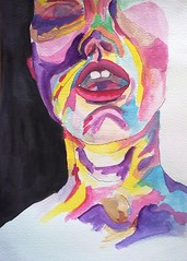 2016_004_WC_FACE OF ORGASM (jaimsart) Tags: face orgasm multicoloured colourful original art jaims saatchi available watercolour painting