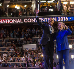 20160727_DNC_Day3_WF_Obama (DemConvention) Tags: 2016 clinton dnc day3 democraticconvention holdhands obama phl smathesondncc speakers wellsfargo philadelphia pennsylvania usa