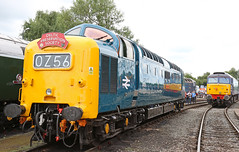 D9009 Alycidon - Crewe Open day (Andrew Edkins) Tags: class55 deltic d9009 alycidon crewe grestybridge openday cheshire engalnd napier railwayphotography headboard class57 zombie summer