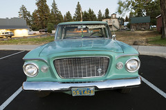 '61 Lark (Curtis Gregory Perry) Tags: sisters oregon 1961 studebaker lark grille headlights bumper chrome blue green night longexposure old vintage collector classic car auto automobile nikon d800e pacific wonderland license plate