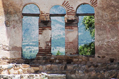 . the ruins of the basilica of St. Achillios (10th century) . (monika strataki) Tags: interior ruins basilica saint achilles prespes florina greece monika strataki photography