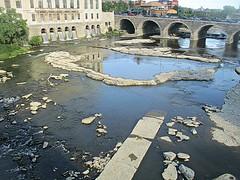 Flowing low (DannyAbe) Tags: geneseeriver rochester bridge summer rocks