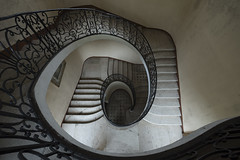 No volume control (Kriegaffe 9) Tags: stairs spiral stone railings descent chateau