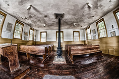 One Room Schoolhouse (votsek) Tags: 2016 schoolhouse slider slidersunday wideangle hdr historic restoration restored building interior