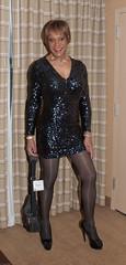 At The 2014 Keystone Conference! (kaceycd) Tags: crossdress tg tgirl lycra spandex sequined sequins minidress pantyhose pumps highheels platformpumps peeptoepumps opentoepumps stilettopumps stilettoheels sexypumps stilettos platformheels s