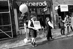 FREE WINE (posterboy2007) Tags: queenstreet toronto wine winerack street people