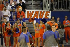Gator Cheerleaders WAVE (dbadair) Tags: cats basketball florida kentucky ky gainesville gators fl sec odome wildcats