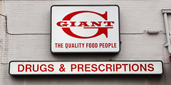 Giant Food  Baltimore MD (B-More Retail) Tags: vintage giant store md maryland baltimore pharmacy drugs grocerystore prescriptions giantfood windsormill milfordmill giantfoodsign giantlandover giantfoodmd
