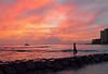 Flash Fiction (jcc55883) Tags: sunset sky clouds hawaii nikon waikiki oahu horizon nikond3200 yabbadabbadoo kalakauaavenue d3200 kuhiobeachpark