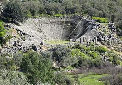 The beautiful amfitheater of Pınara (VillaRhapsody) Tags: nature architecture site roman historical fethiye anciant lycian amfitheater preroman pınara