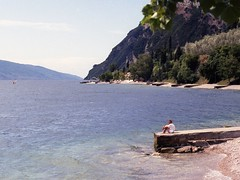 Lake Garda, Italy (Chi Bellami) Tags: italy lake colour slr film 35mm garda scan negative scanned 1990s c41 chibellami