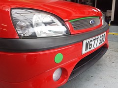 A few jobs done on the Fiesta today (gregg.p) Tags: red green ford fiestazetecs fastford