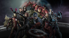 Avengers: Age of Ultron - Wallpaper (with Spider Man) (rafael.abib) Tags: wallpaper man america scarlet movie spider witch nick spiderman ironman screen quicksilver vision age captain hawkeye blackwidow dual hulk thor ultrawide fury avengers ultron vingadores hulkbuster
