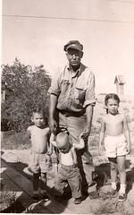 Summer vacation with Grandpa - Jensen, UT summer 1955