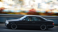 Mercedes-Benz C124 E320 Coupe in Hong Kong (Ben Molloy Automotive Photography) Tags: hk motion black car photography mercedes benz ben automotive hong kong mercedesbenz vehicle panning molloy coupe w124 e320 c124