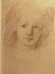 Plethora of Old Sketch Book Page (ART NAHPRO) Tags: woman female pencil book sketch head drawing crayon