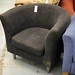 Black fabric club chair
