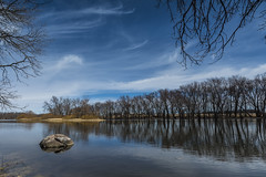 The Rock River at Fulton (Nikon Telezoomer) Tags: wisconsin clouds reflections river nikon wideangle fulton tamron rockriver cokin graduatedneutraldensity d7100 1024mm