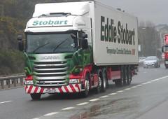 H2066 - PE64 EUL (Cammies Transport Photography) Tags: road bridge truck lorry forth eddie adele eloise scania esl a90 inverkeithing eul stobart eddiestobart r450 pe64 h2066 pe64eul