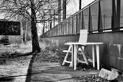 Week Fourteen: Waiting for the bus? Well have a seat here... (Strange Artifact) Tags: bw white black t sony fe weeks za zwart wit weiss f4 schwarz 52 oss carlzeiss 2470mm 2015 variotessar a7r