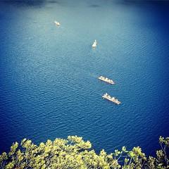 Fishing rafts at #Lagos de #Montebello, #Chiapas, #México #Chiapasiónate #SemanaSanta #Mexico