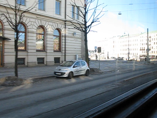 View from tram 9 at Västra Hamngatan in Gothenburg 2010