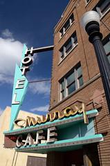 20150510_1407 (Tom Spaulding) Tags: old sign vintage cafe montana neon mt signage livingston murrayhotel highway10 livingstonmt route10 us10 usroute10 historicusroute10