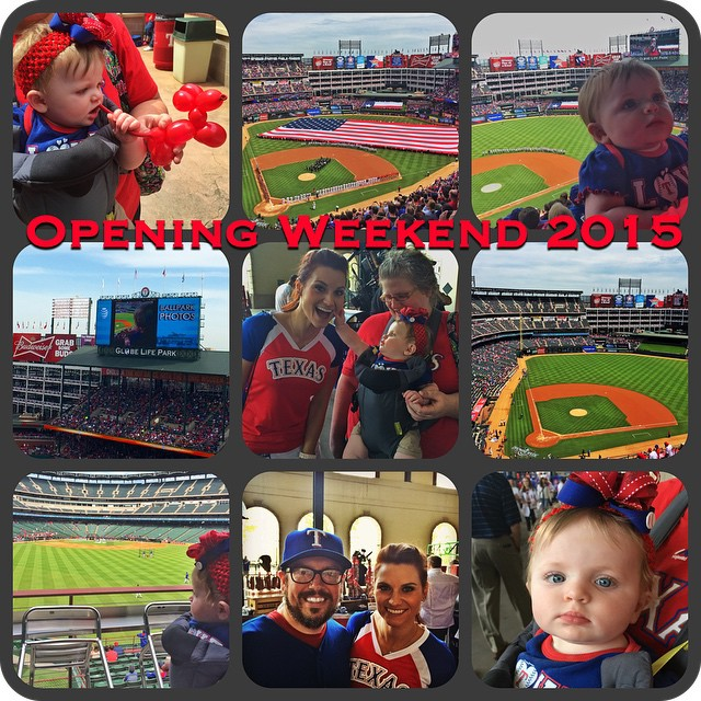 This was just game one! Ireland is ready for games 2 & 3 of the series! #Rangers #openingweekend @mlb