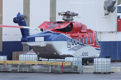 N250Q - 2014 build Sikorsky S-92A, arrived at Aberdeen by low-loader, now re-registered as G-WNSR (egcc) Tags: offshore helicopter aberdeen delivery hks chc sikorsky dyce abz s92 rotorless helibus s92a ct7 egpd chcscotia n250q gwnsr 920250