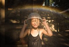 64| 100 (trois petits oiseaux) Tags: kids rainbow water play rain sprinkler summer