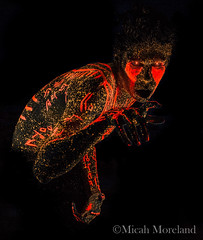 Hysteria (micahmoreland) Tags: fiction portrait reflection male film blackbackground pose dark movie mirror design robot scary paint neon experimental message body ominous space alien hologram evil science creepy fluorescent blacklight future cult scifi horror videogame sciencefiction demonic cyborg outerspace creature cinematic futuristic holographic