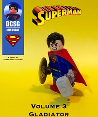 Superman - Volume 3 - Gladiator (Supremedalekdunn) Tags: woman white man green john comics wonder justice dc kent flickr lego earth background steel flash group cartoon champion son el superman henry lane clark batman arrow lantern cyborg tomorrow stories perry lois league krypton aquaman irons the kalel jorel supremedalekdunn
