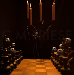 (CMFRIESE) Tags: jackskellington jack thenightmarebeforechristmas tnmbc halloween figurine toy chess dark deviant