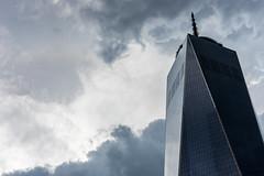 One World Trade Center - New York (xxremixx) Tags: newyork nyc clouds cloudy wolken monochrom monochrome manhattan skyline one world trade center observatory skyscraper wolkenkratzer hochhaus united states america usa amerika architecture architektur city stadt