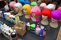 PUBLIC DOMAIN DEDICATION Pixabay digionbew 12. 15-07-16 Wigs on heads LOW RES DSC06409 (MabelAmber️®***Pluto5339***Incognito) Tags: wig hair doll hairstyle fashion women beautyhair fluorescentcolour redhair greenhair pinkhair yellowhair glamour market publicdomaindedication mabelamber pixabay publicdomaindedicationpixabaypexels