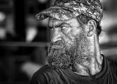 Angry Man (Jim-Mooney) Tags: street portrait people blackandwhite bw white black monochrome photography mono blackwhite fuji market candid monotone kansascity fujinon xt1 50140mm
