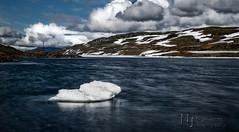 My Titanic Moment (Nigel Jones QGPP) Tags: norway myrkdalen vik lake ice snow nikefex colorefex landscape mountains explored