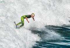 Youthful Wave Master (Ron Drew) Tags: ocean california boy sea summer youth nikon surf pacific action surfer board lad balance athlete huntingtonbeach d800