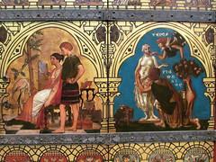 The Great Bookcase [detail] (pefkosmad) Tags: thegreatbookcase bookcase books preraphaelite oxford oxfordshire oxon ashmoleanmuseum museum exhibit england uk williamburges