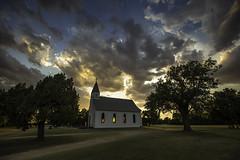 Waterloo Kansas Saint Louis Parish (Harris Chris) Tags: kansas chrisharris church sunsets waterlookansas highway14