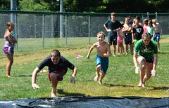 TSC 072216 259 (Tolland Recreation) Tags: boys girls kids children youth summer camp tweens teens teenagers water fun games activities waterslide pond lake swimming leisure recreation tolland connecticut jumping diving raft tsc072216